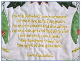 We Are Australian - embroidery by restlesswillow