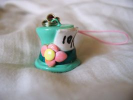 Sculpey Mad Hatter Phone Charm by cleody