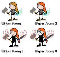 Winter Storm Stick versions by stormthor