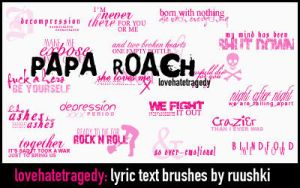 Text Brushes- Papa Roach lyric by ruushki