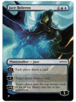 Jace Beleren Book painted MtG Alter by iplaythisgame