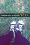 Outside with converses by surimix