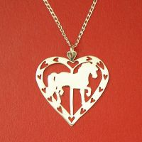 Friesian Carousel Valentine by DragonsFlyDesigns