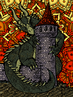 Dragon and Tower by Shabazik