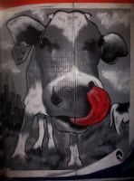 Graffiti - Oh la vache by octobre-rouge