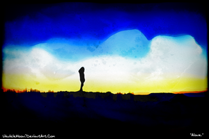 Digital Painting: Alone by UkuleleMoon