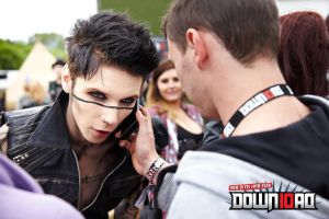 Andy Biersack at Download Festival 2012 by x-Andy-Sixx-x