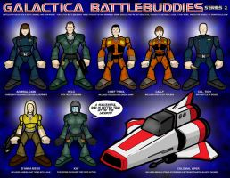 Galactica Battlebuddies Set 2 by grantgoboom