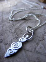 Spiral Goddess Necklace by MoonLitCreations