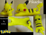 Pikachu Plush by K3RI1