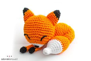 Sleepy Fox Amigurumi by adorablykawaii