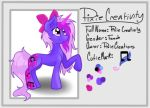 Pixie Creativity, Official Reference Sheet by PixieCreations