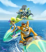 Crash Bandicoot by hinchen