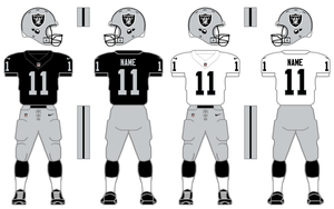 Nike Elite 51 Raiders Uniform Tweak by SimplyMoono