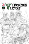 Viperous Vixens Test Cover rough version pencils by IsleSquaredComics