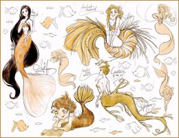 Mermaid concepts by Vilva