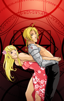 Ed and Winry by Pikia
