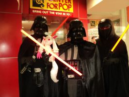 Kyubey with Darth Vader by MissNellie