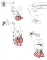 Ed's Facial Expressions 4-6 by KingdomHeartsgal