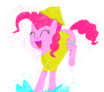 pinkie puddle pounce by hipster-ponies