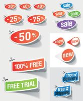sale stickers Vector Graphics by FreeIconsFinder