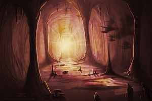 Red Cave by Diterkha