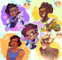 Overwatch expressions by Ful-Fisk