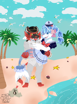 KeahixHaupia sailor outfits ::Gift Art:: by tigersylveon