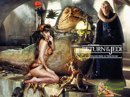 Katy Perry|Princess Leia Slave|Jabba The Hutt by c-edward