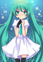 Don't be scare Miku Hatsune by Moe-love-chu