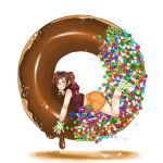 Tenten is a chocolate donut by ShadeOfUmbrella