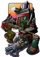 Ninja Turtles Print - Final colors by RobPaolucci