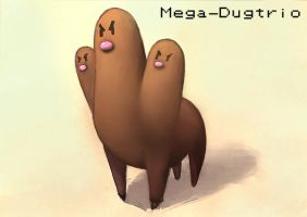 Mega-dugtrio by Ateo88