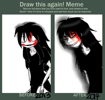 Draw This Again. Jeff The Killer. by MikaelBratLoni