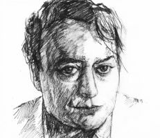 Christopher Hitchens by LevonHackensaw