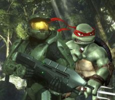 master chief Raph team up by strovecos