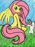 Fluttershy and angel bunny  ^^ by monkee426