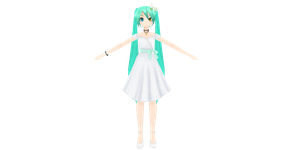 [MMD] Project Diva Extend -  White Eve Giveaway by xxSnowCherryxx