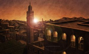 Tangier city - concept art by aaronwty