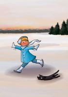 Skating on Ice by Val-eithel