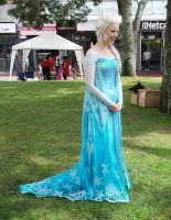 elsa at a children's festival by glittersweet