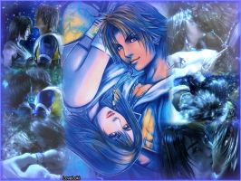 yuna and tidus loveeee by LoveLoki