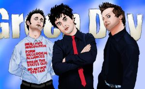 Green Day - Air Brush by maumorado