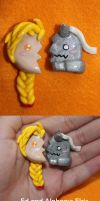 Ed and Alphonse Elric Half Charms by lkcrafts