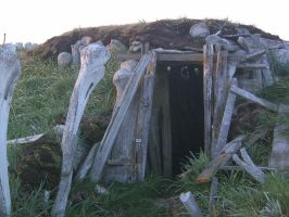 Eskimo Sod house 1 by Arctic-Stock