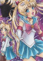 Pretty Guardian Sailor Moon ATC/ACEO by LuckyAngelausMexx
