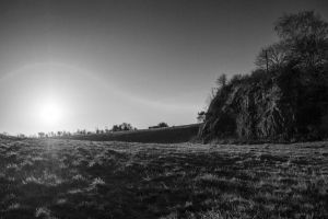 Cliff face bw by RKdesigns