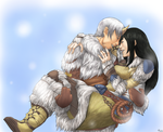 [OTPChallenge25] GW2 - Winter's kiss by konrei-sama