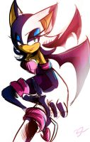 Rouge the bat This is End by Omiza