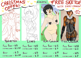 COMMISSIONS CHRISTMAS OFFER!! by Chickadee-chii